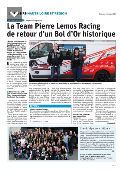 Article le progres 6 octobre